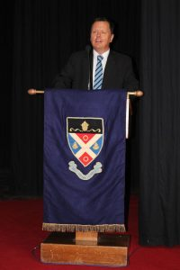 The Headmaster of St Andrew's College, Mr Alan Thompson, officialy welcoming the delegates to the IBSC conference (Large)