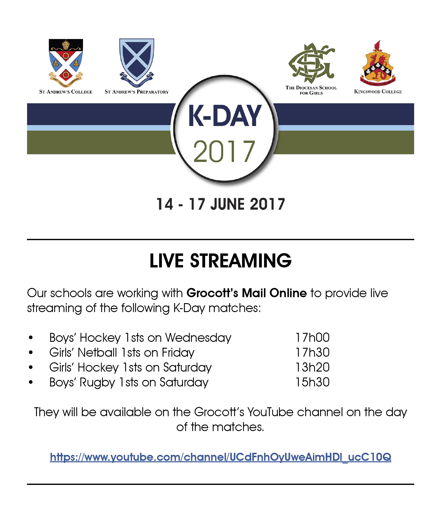 K-DAY 2017 LIVE STREAMING NOTICE