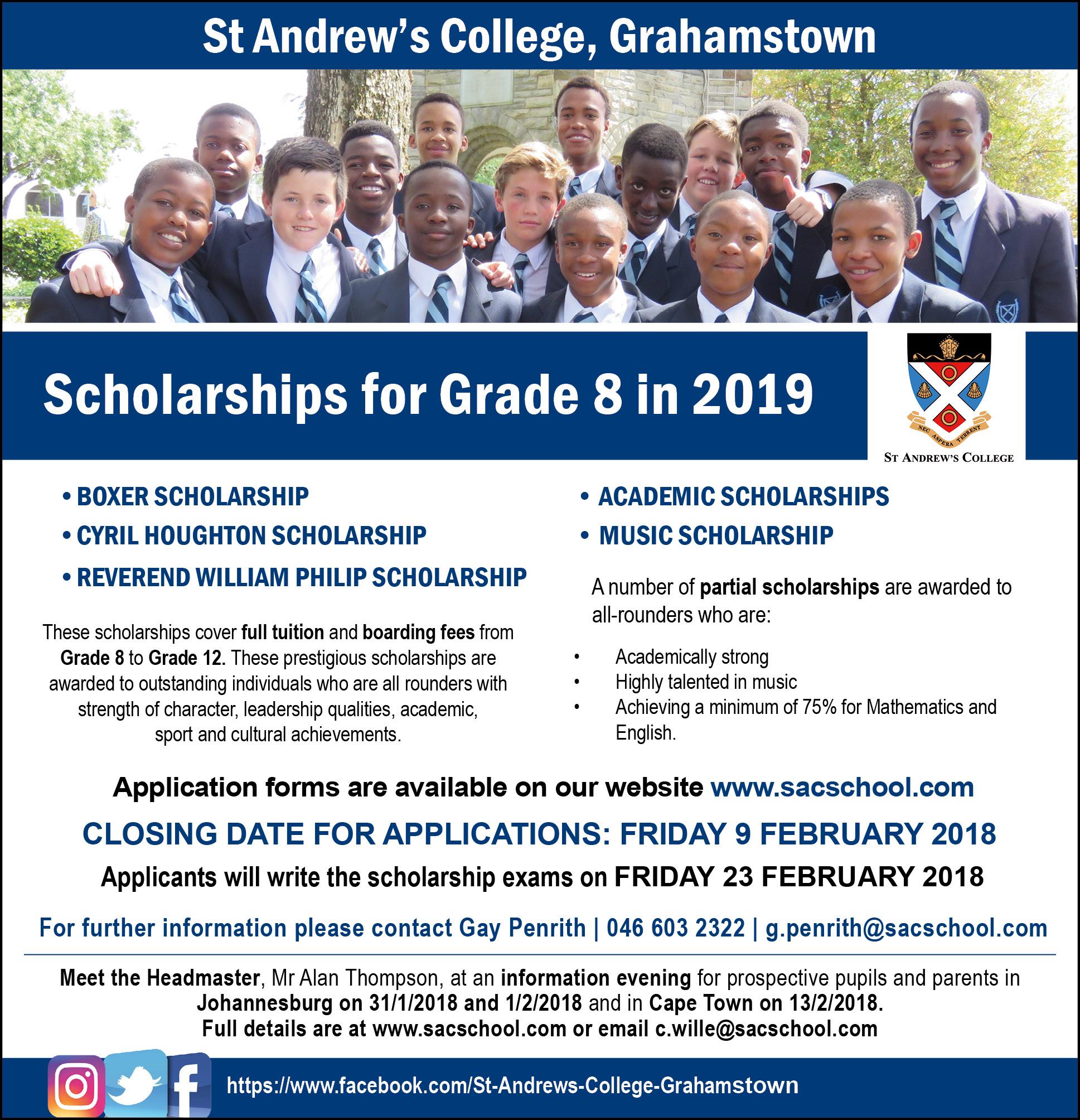 2018 SAC Scholarship for Grade 8 2019 (FINAL)