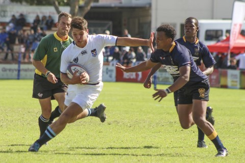 Miles Danckwerts of St Andrew's 1st XV, during The Standard Bank Grey Rugby Festival match between College and Durban High School in Port Elizabeth, Saturday 28 April 2018. St Andrew's won 31-15.