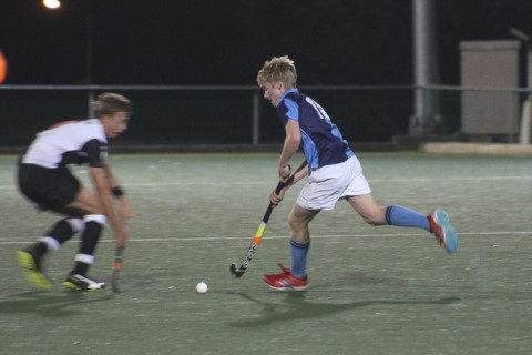 Joe Fisher of St Andrew's College, during the inter schools hockey match between St Andrew's 1st XI and Selborne College at St Andrew's Webster Field in Grahamstown, Friday 25 May 2018.